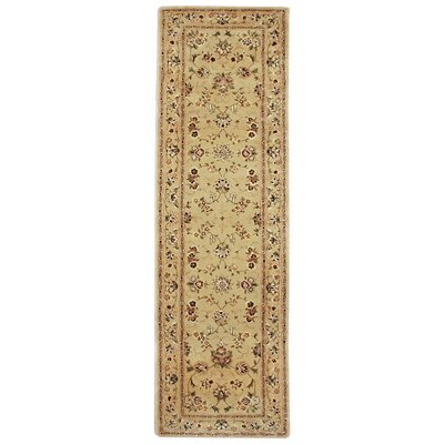 Opulance Hand Tufted Wool Tan Area Rug Rug Size: Runner 2 x 76