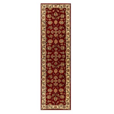 Opulance Hand-Tufted Red Area Rug Rug Size: Runner 2' x 7'6
