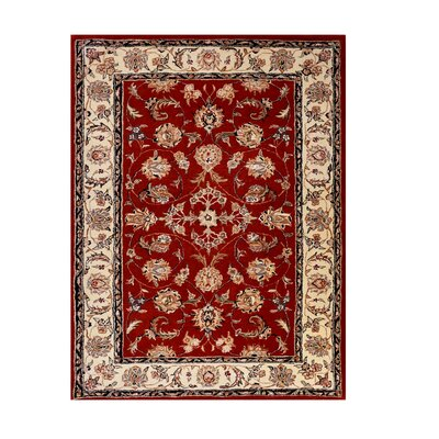 Opulance Hand-Tufted Red Area Rug Rug Size: 3' x 4'6