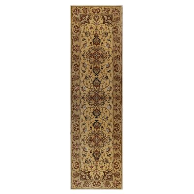 Opulance Hand-Tufted Ivory Area Rug Rug Size: Runner 2 x 76