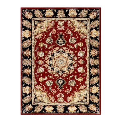 Opulance Hand-Tufted Dark Red Area Rug Rug Size: 3 x 46