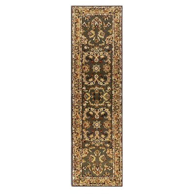 Opulance Hand-Tufted Olive Green Area Rug Rug Size: Runner 2 x 76