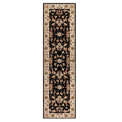 Opulance Hand-Tufted Black Area Rug Rug Size: Runner 2 x 76