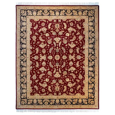 Opulance Hand-Tufted Dark Red Area Rug