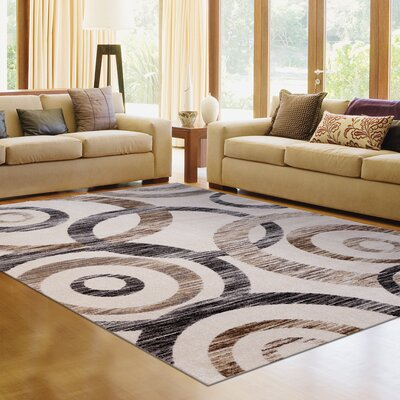Avenue 33 New Style Spheres Ivory Area Rug Rug Size: 27 x 310