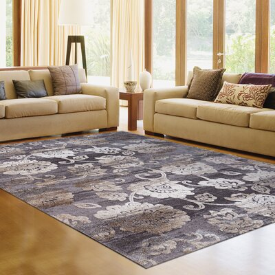 Avenue 33 New Style Vernal Gray Area Rug Rug Size: 53 x 7