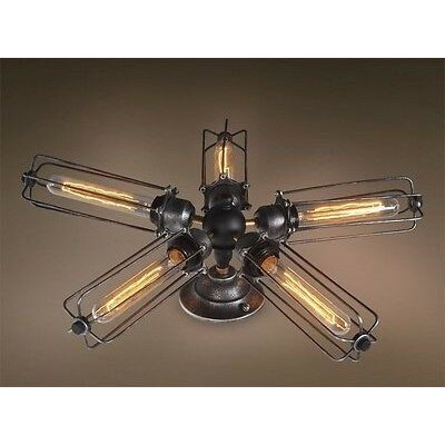 Chinook Wire 5-Light Semi Flush Mount