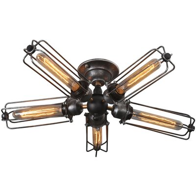 Wire 5-Light Semi Flush Mount