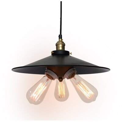 Urban Industrial 3-Light Kitchen Island Pendant