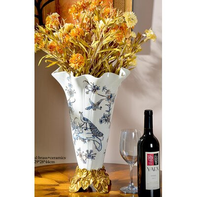 Decorative Flower Receptacle Table Vase RA385