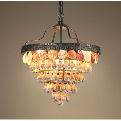 Capiz 5 Tiers Seashell 3-Light LED Bowl Pendant