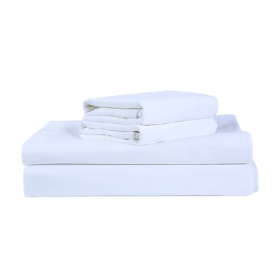400 Thread Count 100% Cotton Sheet Set Size: California King, Color: White