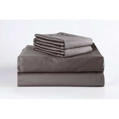 400 Thread Count 100% Cotton Sheet Set Size: California King, Color: Steeple Gray