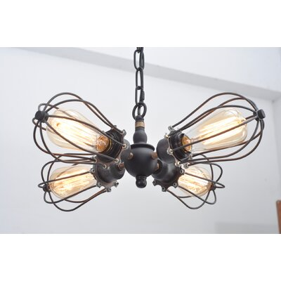Kati Squirrel Cage 4-Light Mini Chandelier