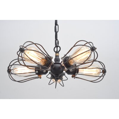 Putcha Squirrel Cage 5-Light Sputnik Chandelier