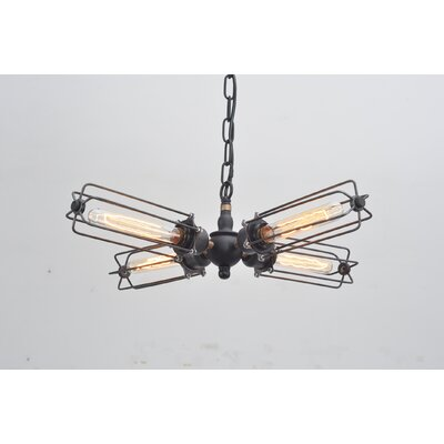 Krystin Cylinder Cage 4-Light Mini Chandelier