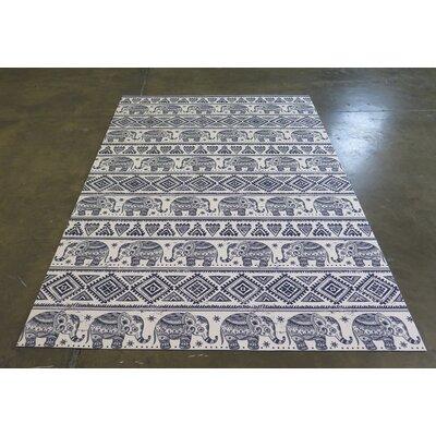 Blue/White Indoor/Outdoor Area Rug