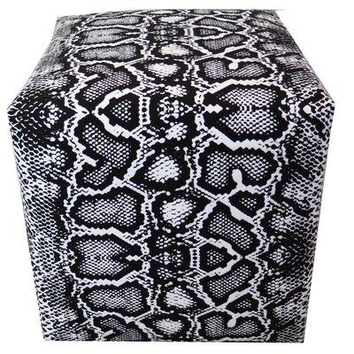 Black White Snake Skin Pattern Ottoman