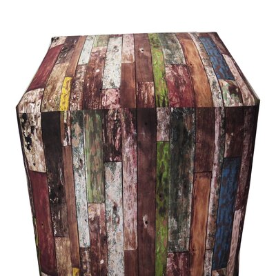 Old Wood Paint Ottoman