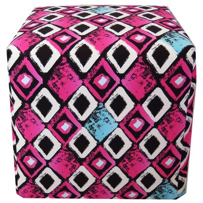 Pink Geometric Pattern Ottoman