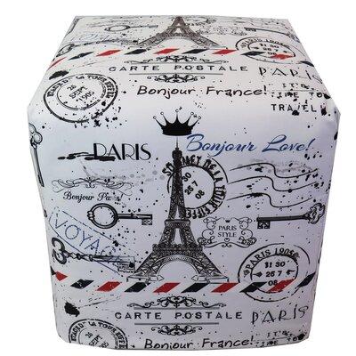 Paris Stamp Ottoman