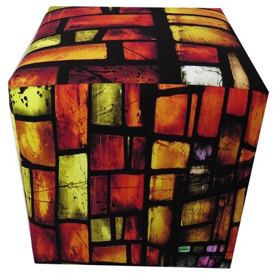 Reds Stained Glass Ottoman
