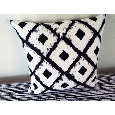 Ikat Abstract Seamless Throw Pillow Size: 30 H x 30 W x 4 D