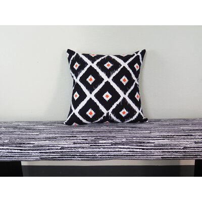 Abstract Tribal Throw Pillow Size: 18 H x 18 W x 4 D