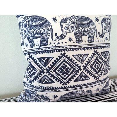 Ethnic Elephant Throw Pillow Size: 30 H x 30 W x 4 D