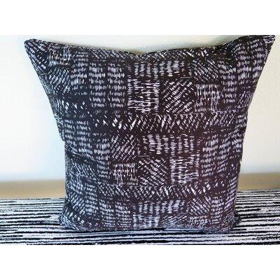 Rectangles Hatching Throw Pillow Size: 18 H x 18 W x 4 D