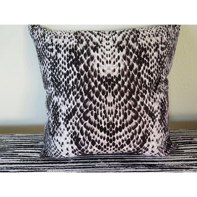 Snake Skin Throw Pillow Size: 30 H x 30 W x 4 D