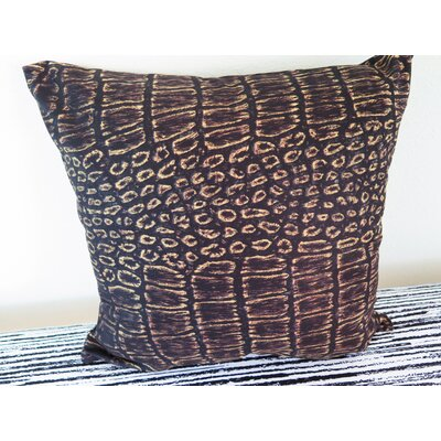 Old Crocodile Skin Throw Pillow Size: 18 H x 18 W x 4 D