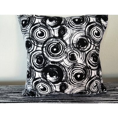Grungy Circle Throw Pillow Size: 18 H x 18 W x 4 D