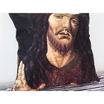 Salvator Mundi Throw Pillow Size: 18 H x 18 W x 4 D