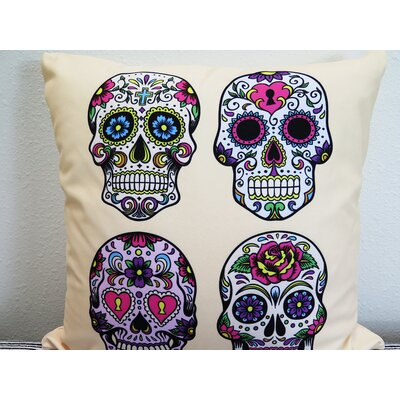 Day of the Dead Throw Pillow Size: 30 H x 30 W x 4 D