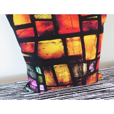 Manchester Cathedral Stained Glass Throw Pillow Size: 30 H x 30 W x 4 D