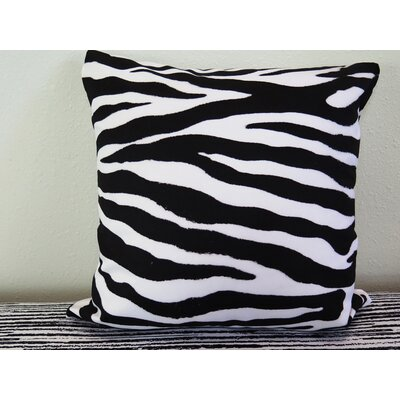 Zebra Skin Throw Pillow Size: 30 H x 30 W x 4 D