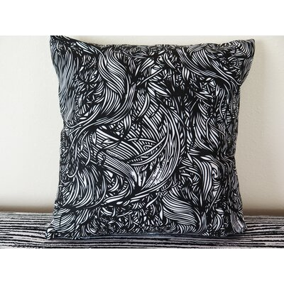 Striped Hand Painted Brush Stroke Throw Pillow Size: 30 H x 30 W x 4 D