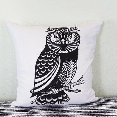 Decorative Owl Throw Pillow Size: 18 H x 18 W x 4 D