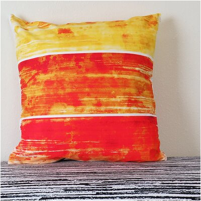 Horizontal Abstract Brush Stroke Throw Pillow Size: 18 H x 18 W x 4 D