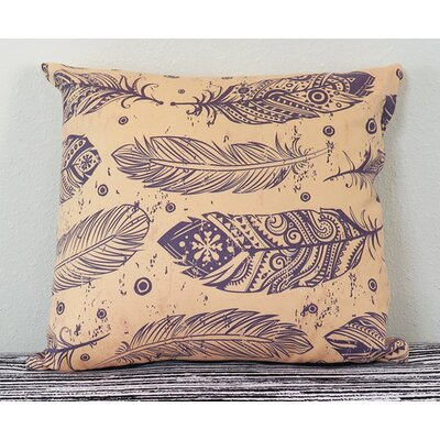 Beautiful Feather Throw Pillow Size: 18 H x 18 W x 4 D