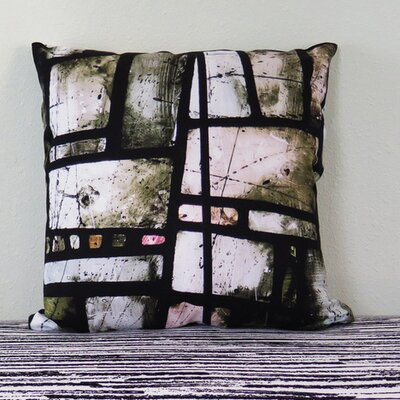 Manchester Cathedral Stained Glass Throw Pillow Size: 18 H x 18 W x 4 D
