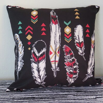 Ethnic Feather Throw Pillow Size: 30 H x 30 W x 4 D
