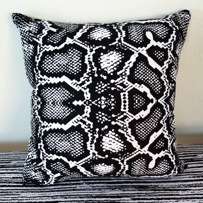 Python Snake Throw Pillow Size: 30 H x 30 W x 4 D