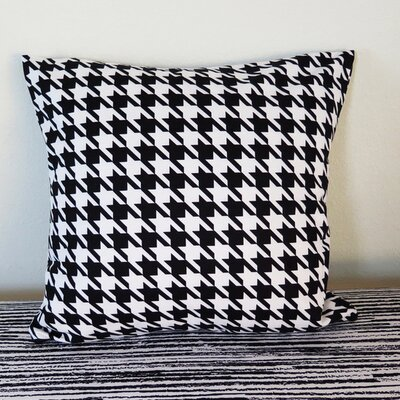 Houndstooth Throw Pillow Size: 30 H x 30 W x 4 D