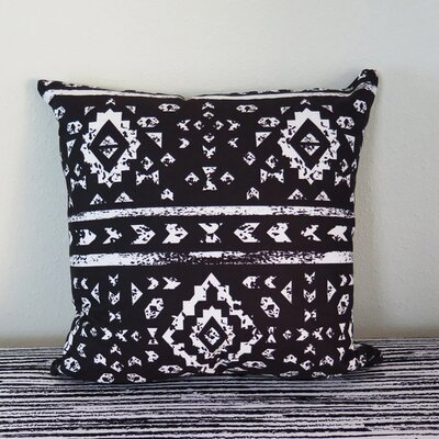 Aztec Ornaments on Geometric Ethnic Throw Pillow Size: 18 H x 18 W x 4 D