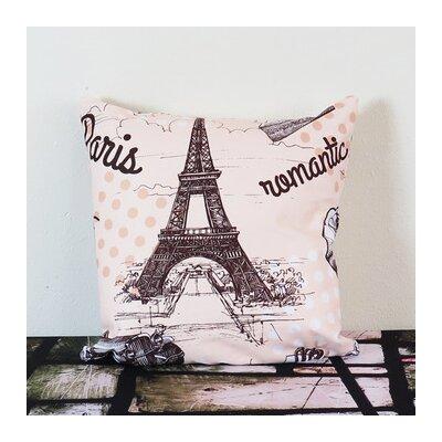 Paris Throw Pillow Size: 18 H x 18 W x 4 D