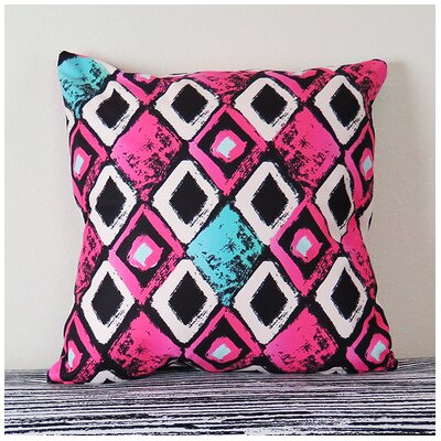 Grunge Red Triangle Geometric Throw Pillow Size: 18 H x 18 W x 4 D