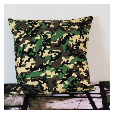 Classic Woodland Camo Throw Pillow Size: 18 H x 18 W x 4 D