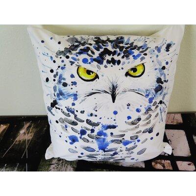 Snowy Owl Illustration with Splash Throw Pillow Size: 30 H x 30 W x 4 D